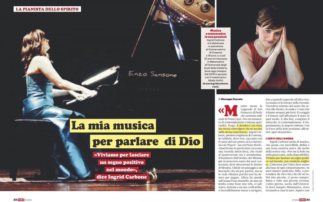 Interview on Credere Magazine